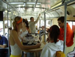 Inside the Kofola tram