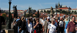 Crowded Charles Bridge