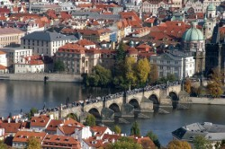 Charles Bridge in the centre of Prague