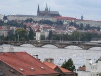 Untypical image of Prague... Prague's floods