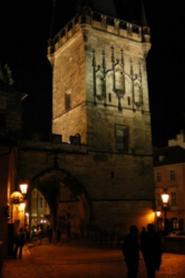 Bridge Tower at night