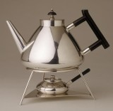 Toast rack and kettle, by Christopher Dresser