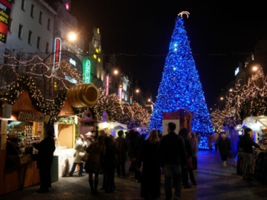 Christmas atmosphere in Prague