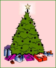 Who gives presents under the Christmas tree?