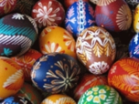 Coloured eggs called kraslice in Czech
