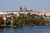 The Prague Castle, Vltava and autumn....