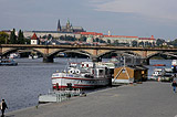 Ship dock on the Vltava river