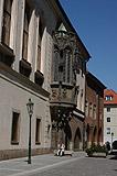 Gothic oriel window