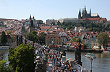 Crowds on Charles Bridge can be seen every day