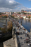 Charles Bridge from Prague Old Town bridge Tower