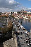 Charles Bridge from Prague Old Town bridge Tower