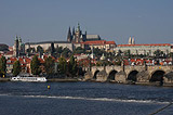 Panorama of Prague Castle and Charles Bridge