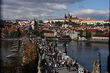 Crowds at Charles Bridge