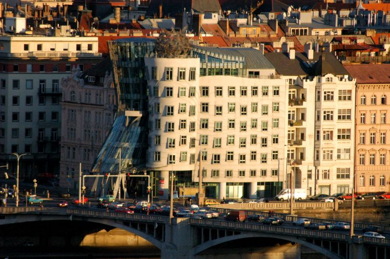 The Dancing House in late afternoon light | Prague.