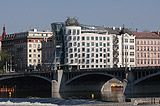 Dancing House with Jiraskuv Bridge
