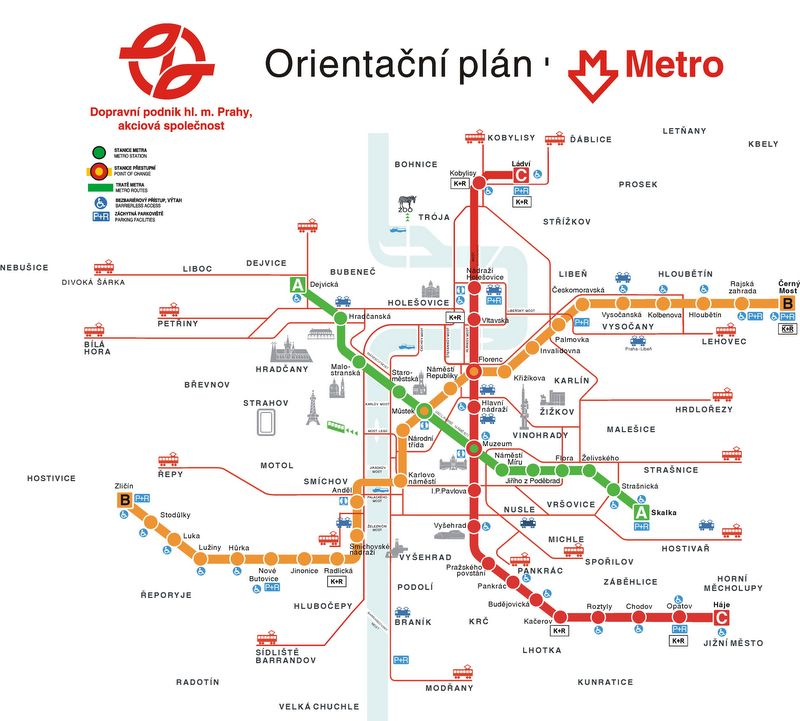 Prague Subway Mapinfo.Prague Subway Map Prague Net