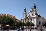 Park and Church of St. Nicholas in the Old Town Square