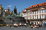 Statue of Jan Hus in Prague's Old Town Square