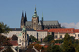The view of Prague Castle with its dominant St Vitus Cathedral