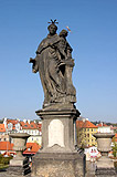A statue on Charles Bridge