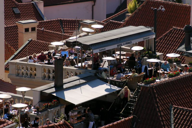 Roof terraces at the hotel u prince for Terrace u prince prague