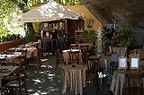 Cozy cafe on the bank of the Vltava