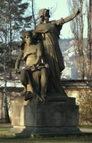Statue if Princess Libuse and Premysl by Josef Myslbek