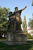 Statue of Premysl and Libuse at Vysehrad