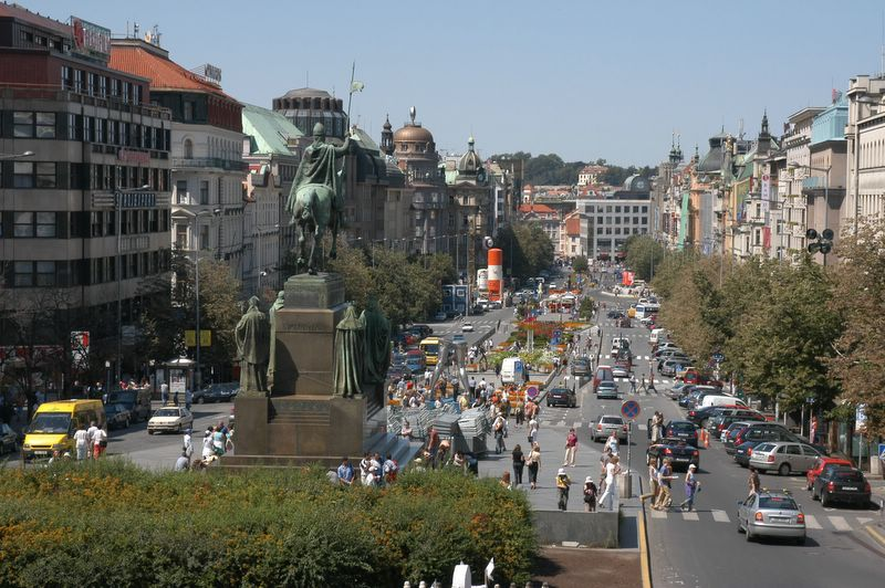 View over the Wenceslas Square | Prague.