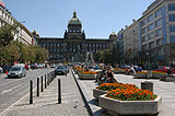 Wenceslas Square and the National Museum